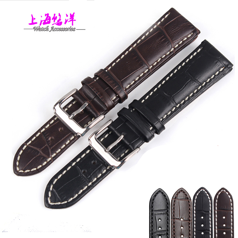 Genuine Italy calf leather watch strap for men and women 18 19 20 21 22mm black