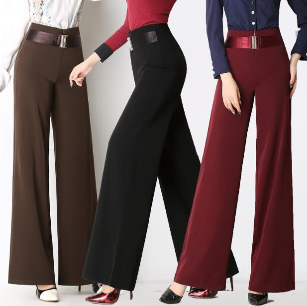 Wide     leg     pants   trousers new women's 2018 fashion high waist women's trousers