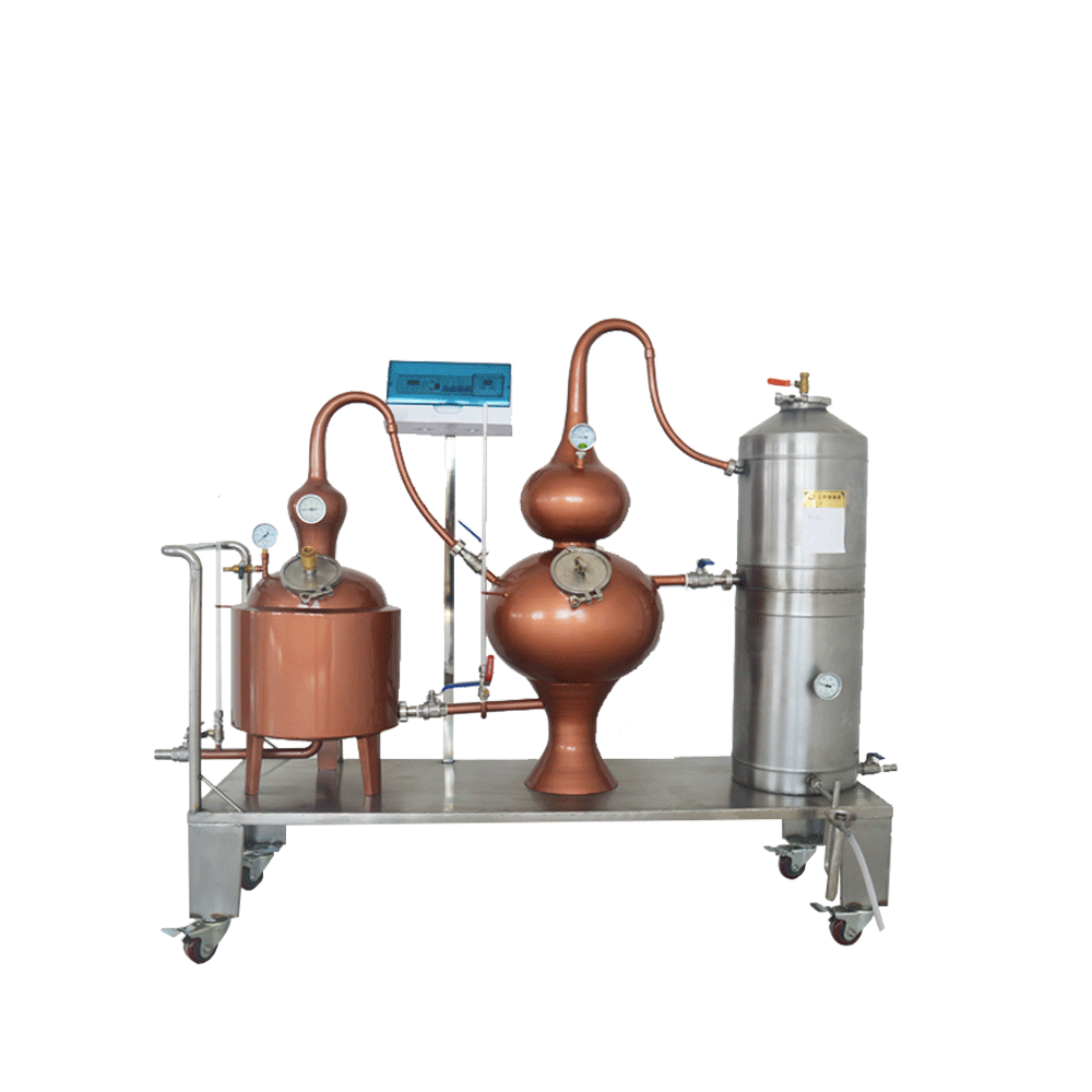 Red Copper Distiller High Alcohol Distilling Machine Three Pot Distiller Brandy Machine Whiskey Distiller Brewing Equipment