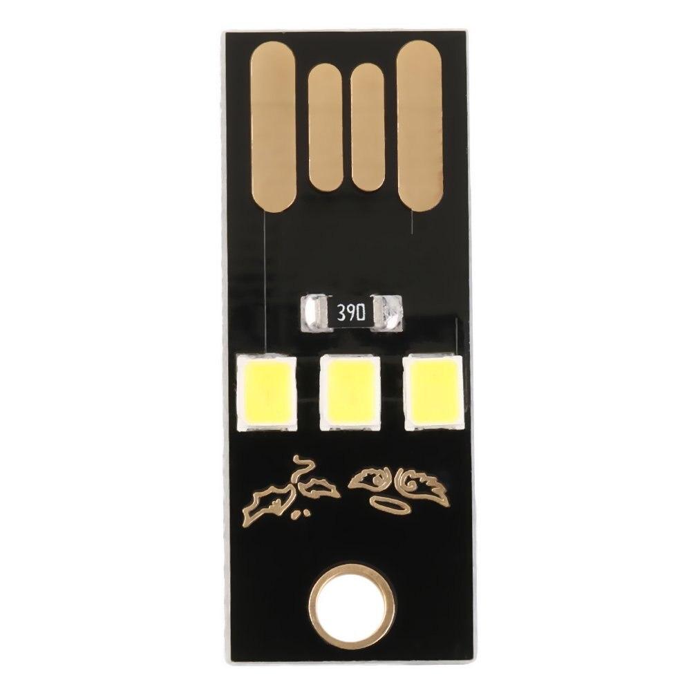 Black Portable 3pcs Length 3cm Slim USB 3-LED Light Super Bright Pocket Lamp Module For Laptop Reading And Outdoor Power Bank