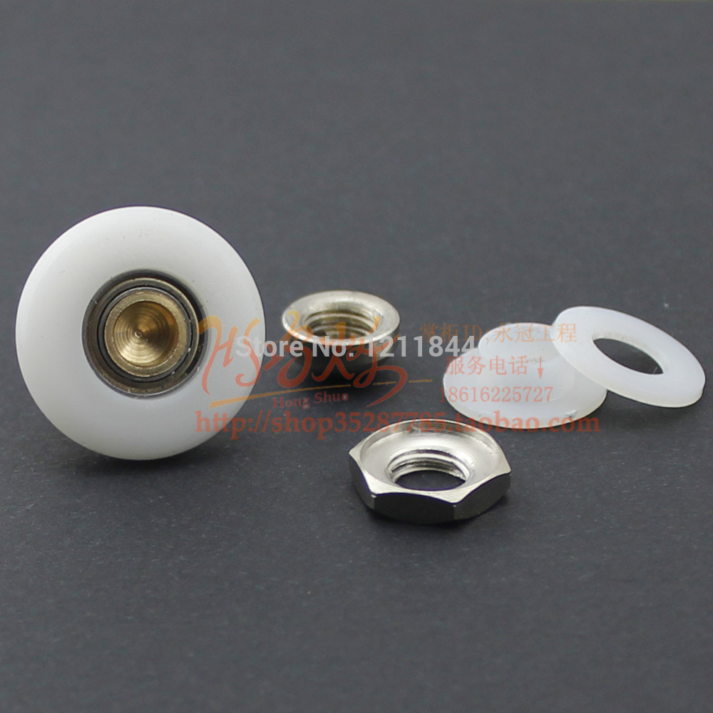8pcs old Shower Door roller The old shower room glass accessories pulley eccentric wheel