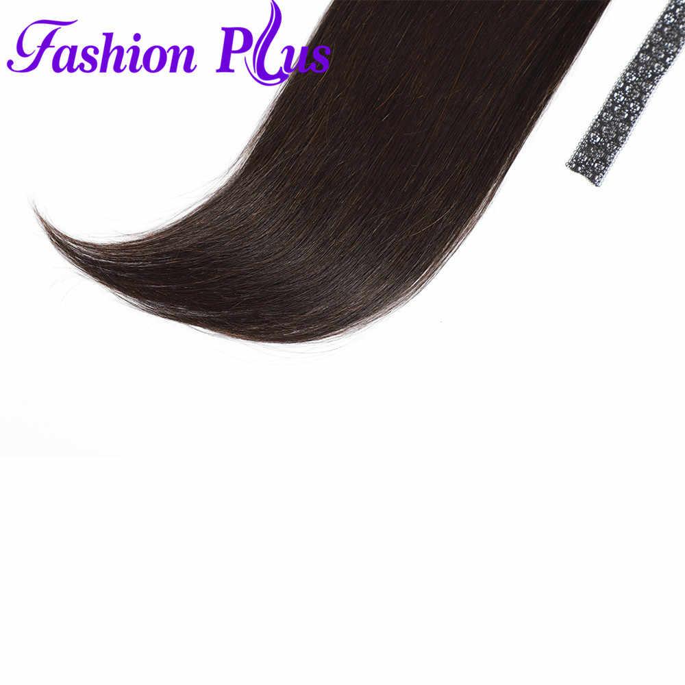 """Мoднoe клeтчaтoe на заколках прическа «конский хвост» удлинение волосы не имеющие повреждения кутикулы, прическа """"хвост"""" бразильские прямые волосы"""