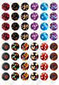 (48 pieces/lot) 12mm round cabochons mix stripe/clock/girl/cartoon sign image glass cabochon for earring blank settings xl3111