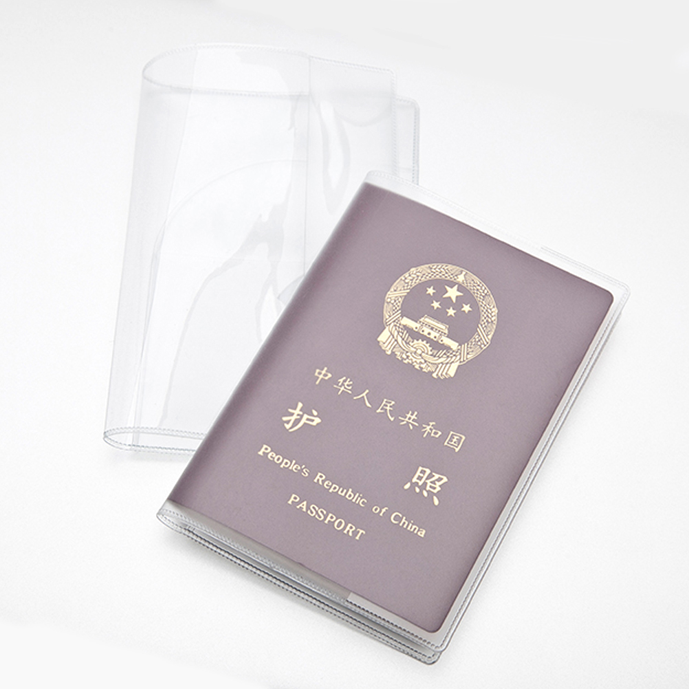 Travel Passport Cover Case Silicone Transparent Waterproof Dirt ID Card Holders Business Card Credit Card Bank Card Holders new passport holderstransparent silicone waterproof dirt cover size 9x13 1cm id cards business card credit card bank holders