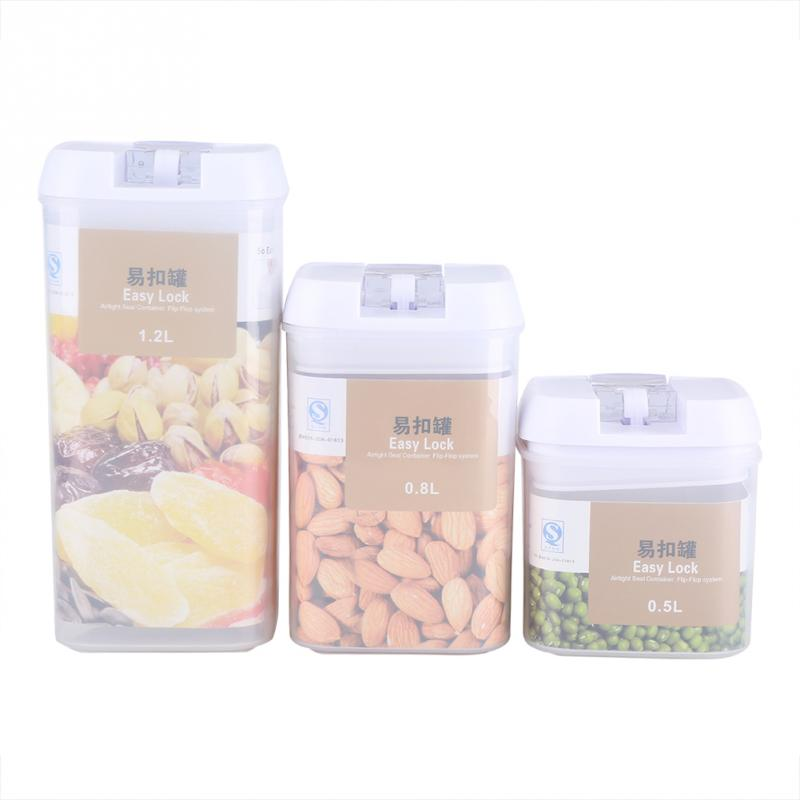 Storage-Box Food-Container Home-Fridge-Organizer Transparent Kitchen For Whole-Grains-Beans