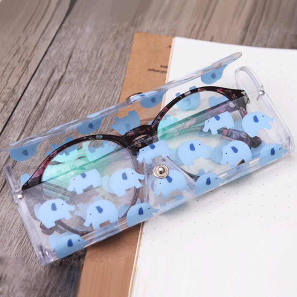 Cute Clear Sunglasses Glasses Case Transparent Glass Spectacle Storage Protection Carry Box Fashion Eyewear Accessoires