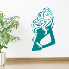 Sexy Woman Salon Wall Decal Girl Bedroom Decoration Beauty Hair Cosmetic Interior Stickers Vinyl Barber Shop Fashion DIY SYY403