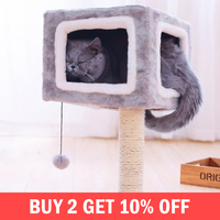 Cat Tree Furniture Scratch Cat Climbing Frame Cat Jumping Toy With Ladder Kitten Play Sleeping House Pet Supplies Products Item