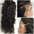 8А Бразильские Волосы Парики Шнурка Вьющиеся Full Lace Человеческих Волос, Парики Glueless Волна Воды Кружева Лобные Парики С Волосами Младенца Для Черных женщины