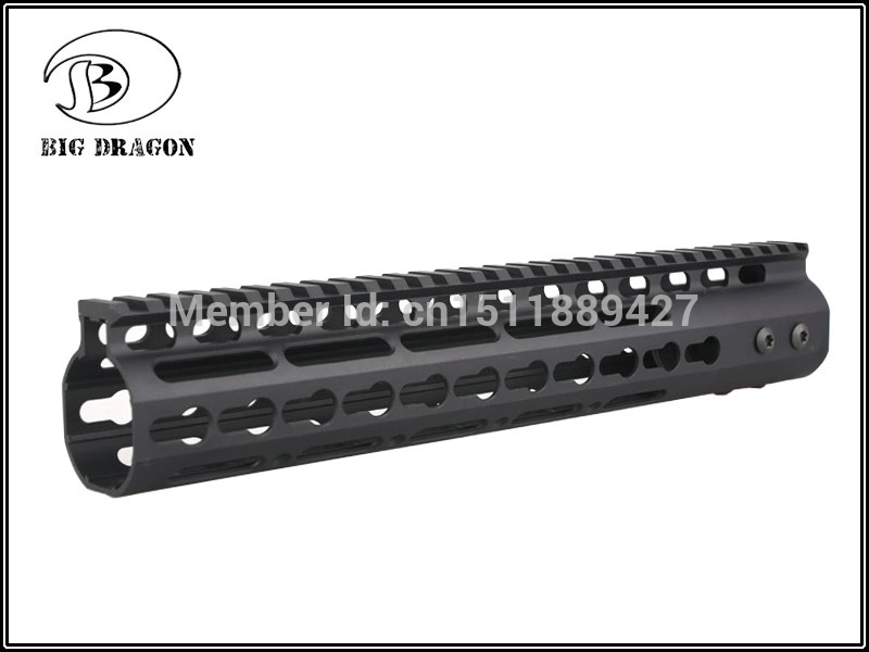 High Quality Lightest 11 inch Handguard One-piece Top Rail System For AR-15 M4 M16 Black - Free shipping 2pcs high quality 1 2 inch shank rail
