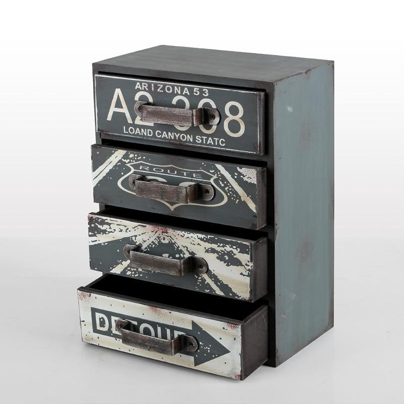 Fait à la main 4 couches tiroir articles divers boîte en bois organisateur de bureau Case décor de bureau à la maison armoire de rangement petits casiers maison outils