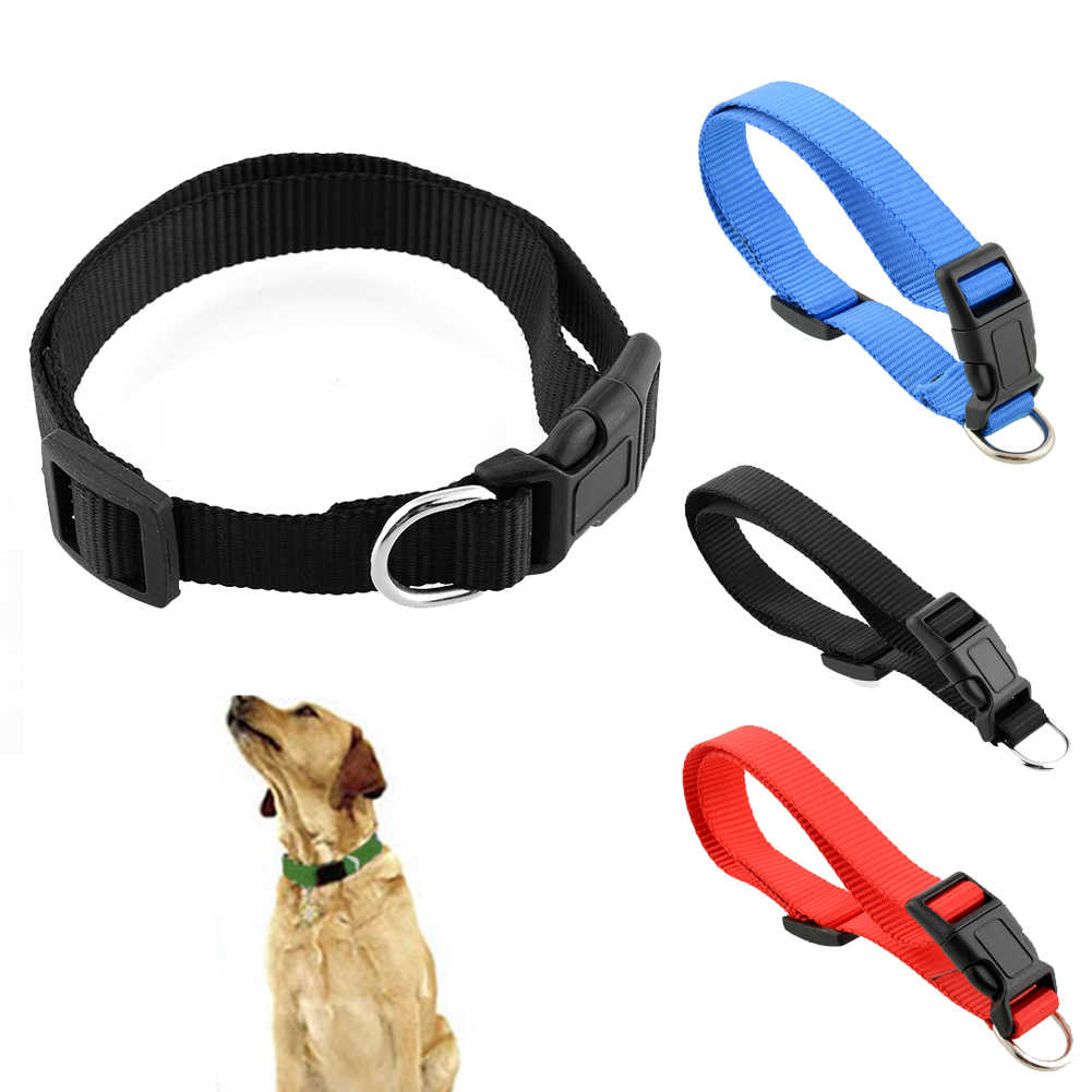 Hot New Durable Adjustable Nylon Pet Dog Collar with Buckle Lead Leash