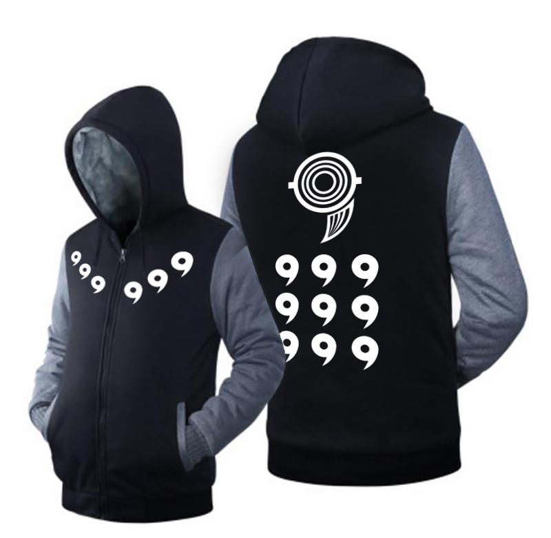 USA size Men Women Naruto Ootutuki Hagoromo Rikudo Sennin Coat Zipper Hoodie Winter Fleece Unisex Thicken