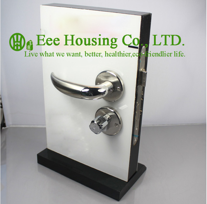 Free shipping brushed stainless steel handle door lock - Interior door privacy mortise lock ...