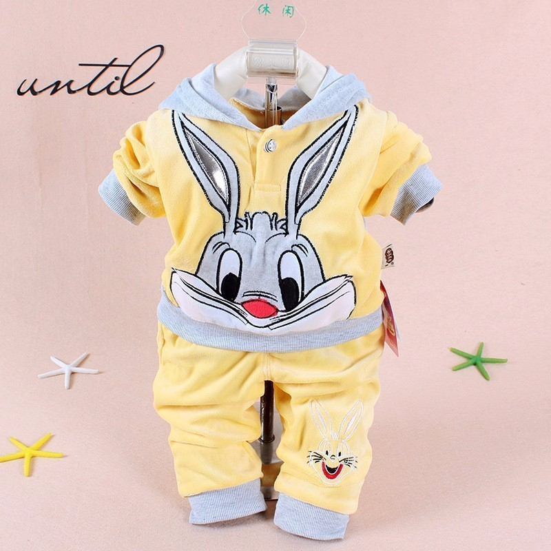 New Boys baby Girls Clothing Set Fleece Sport newborn Clothes Suit Cow Long Sleeve toddler tracksuit Cotton children boy Clothes newborn baby girls rompers 100% cotton long sleeve angel wings leisure body suit clothing toddler jumpsuit infant boys clothes