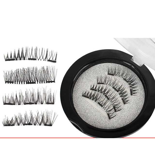83c7d8c9c12 3D Magnetic False Fake Eyelashes Natural Handmade Eyelash Extension Long  Cross Magnet False Eye Lashes Eyes