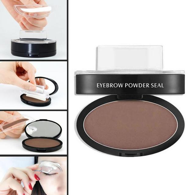 Natural Arched Eyebrow Stamp Quick Makeup Brow Stamps Powder Pallette 9 Options Eyebrow Powder Seal Best Selling Dropshipping 4