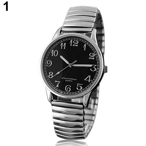 Couple Lover Watch  Men Women Design Vintage Alloy Quartz Analog Stretchable Wrist Watch  1L3A 3U9O
