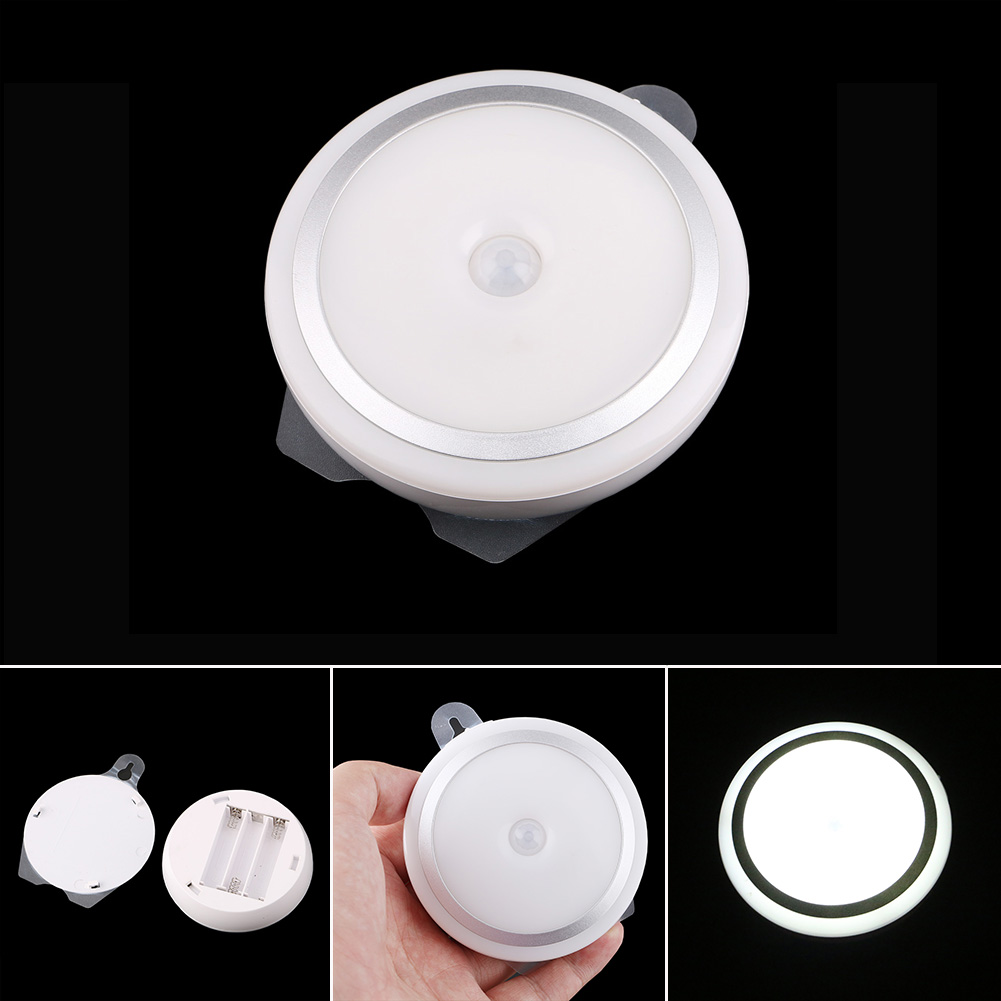 Mini Night Light Hanging Type Human Body Sensor LED Lamp Energy Saving Lights For Bedroom Basement Corridor Cupboard CLH ...