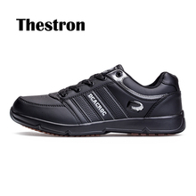 Thestron 2018 NEW Black Walking Leather Shoes Man Lightweight Size 38-45 Spring Autumn Casual Anti-Slip Anti-odor For Male