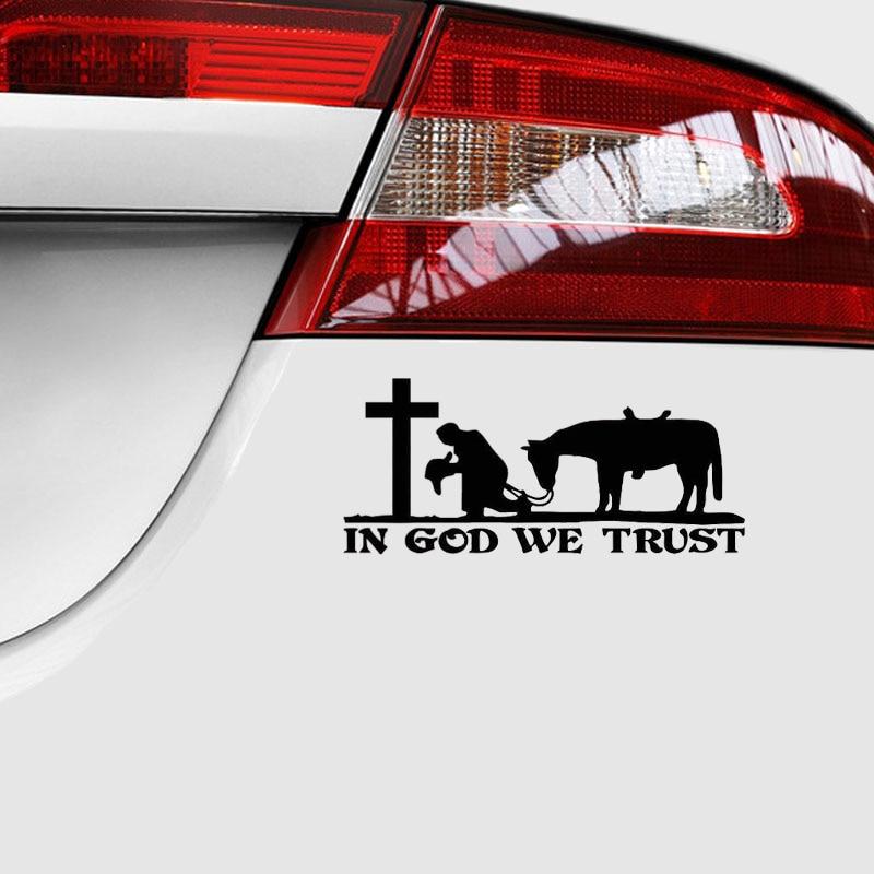 Cowboy And Horse Praying Cross Car Or Truck Window Decal Sticker White 8x5 1 Ebay