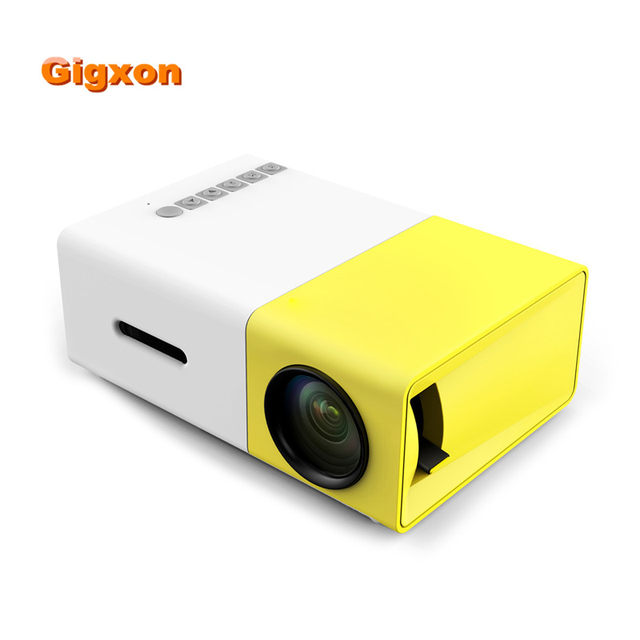 US $59 99 |2018 New Gigxon YG300 Pocket Mini Projector With Mobile Phone  and TV HD1080P G19 LED 400 600LM Portable Projector HDMI USB AV SD-in LCD
