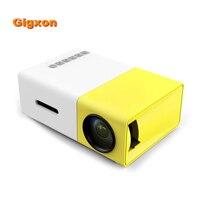 Gigxon-YG300 pocket mini proyector con el teléfono móvil y TV HD1080 G19 portable llevó el mini proyector