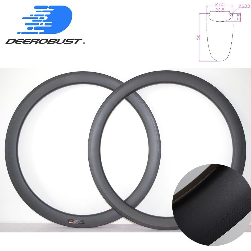 700C Carbon Fiber Rims 60mm Depth 25mm Width U Shape 18//20//21//24//28 Rims 2 Pcs