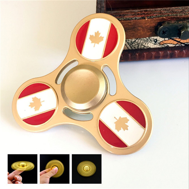 Mehechap Canadian Flag Maple Leaf Fid Spinner Metal EDC Finger