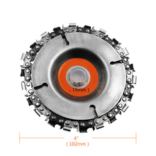 Angle Grinder Power Grinding Chain Plate Woodworking Wood Carving Disc For Tool Accessorie