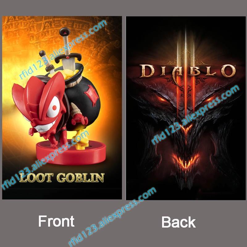NFC Amiibo Card Printing Card for Diablo Loot Goblin fonksiyonlu rende