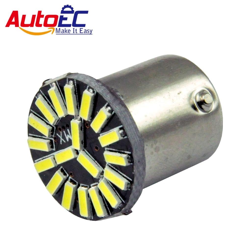 AutoEC 10x S25 1156 Ba15s 19SMD 4014 LED auto auto parkovací světla žárovka žárovka pro DC12V # LF65