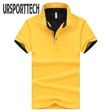 Plus Size M-4XL Brand New Men's Polo Shirts High Quality Men Cotton Short Sleeve Big Size Polos Shirt Couple Workwear Clothing