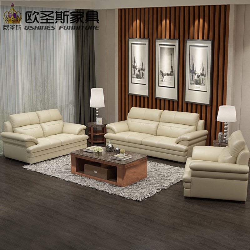 New Model L Shaped Modern Italy Genuine Real Leather Sectional ...