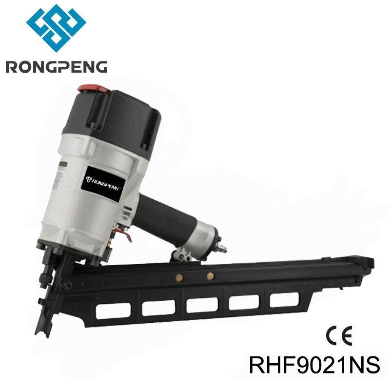 RONGPENG robuste 3-1/4 pouces papier assemblé cloueur de cadrage RHF9021NS 21 degrés clous à tête ronde