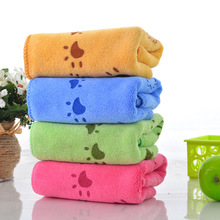 Soft Lovely Cartoon 35*75cm Pets Dog Cat Puppy Super Absorbent Towel