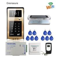 Free Shipping RFID Code Keypad Wifi Video Intercom Door Phone Waterproof Metal Doorbell For Android IOS