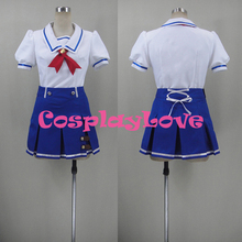 New Custom Made Japanese Anime Aikatsu! Ichigo Hoshimiya/Aoi Kiriya Starlight Academy Summer School Uniform Cosplay Costume