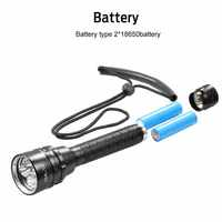 Ultrafire Diving Torch XM-L5 * T6 12000 LMS Aluminum Torch Tactical Switch Hunting Lantern 18650 Battery Charging Flashlight luz