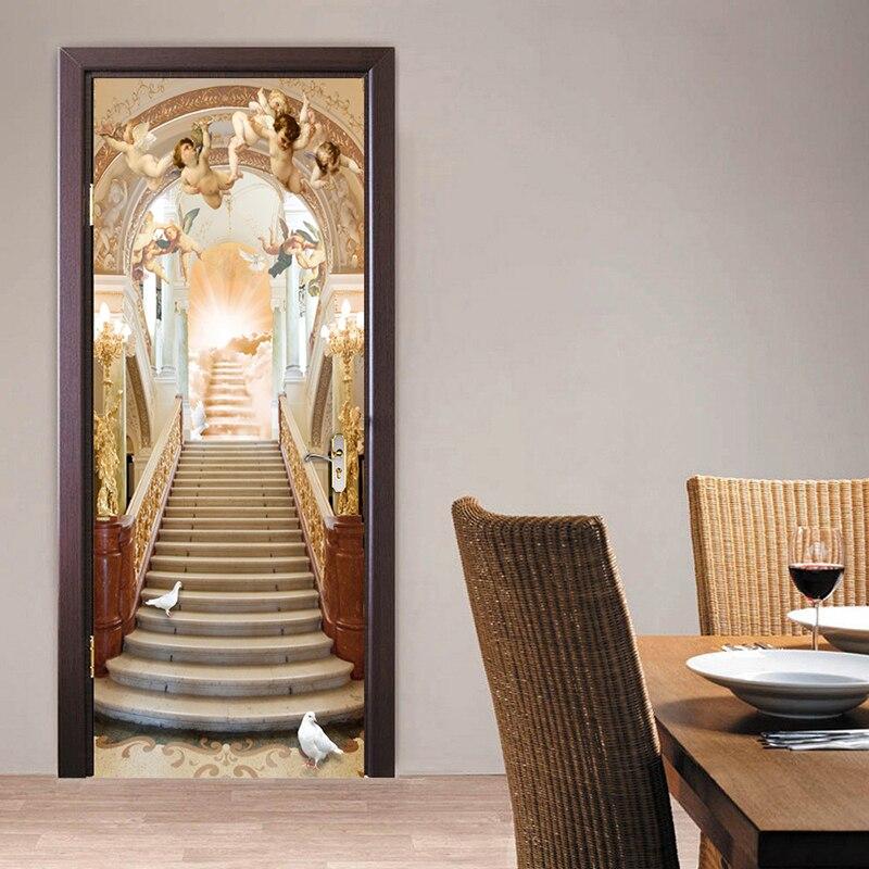ngel escaleras sala de estar de estilo europeo puerta d etiqueta de la pared mural papel