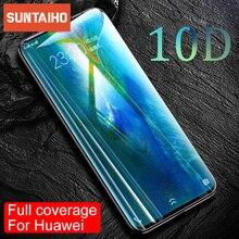 Suntaiho 10D Glas Voor Huawei P30 P20 Pro Lite P smart 2019 Screen Protector Gehard Glas Voor Huawei M20 Lite protector Film