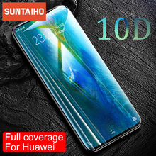 Suntaiho 10D Glass For Huawei P30 P20 Pro Lite P smart 2019 Screen Protector Tempered Glass For Huawei M20 Lite Protector Film