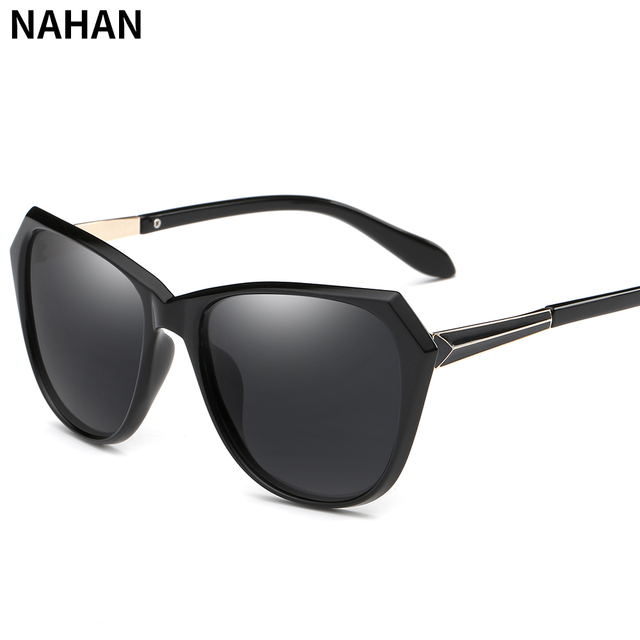 dc22b33cbb3 NAHAN Polarized Sunglasses Women Luxury Design Women s Mirror Sun Glasses  Fashion Shades Female Driving Glasses Black