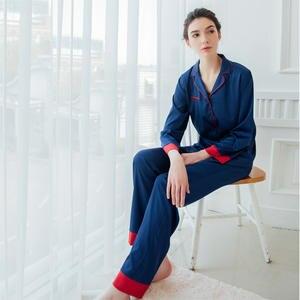 7 VEILS Women Silk Satin Sleepwear Home Wear pajama Sets b39ebe3ec