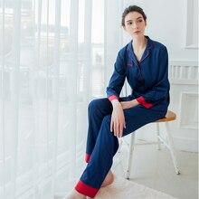 Women and Men Unisex Lovers Silk Satin Sleepwear Home Wear Loungewear  pajama Sets with Long Pants ff29a1485