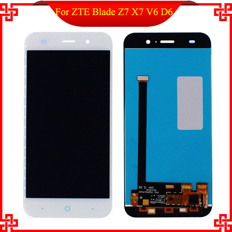 5 White Black For ZTE Blade Z7 X7 V6 D6 T660 T663 LCD Display Touch Screen