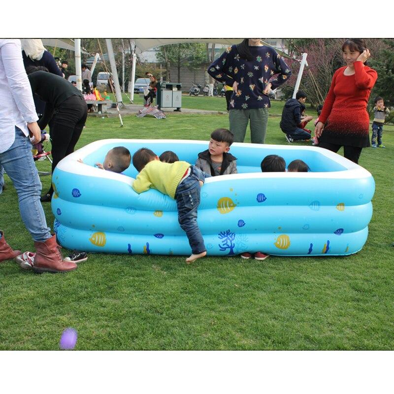 Épaissir grand Zwembad famille Havuz piscine été gonflable enfants Piscinas Babys pataugeoire taille 220*155*60 cm