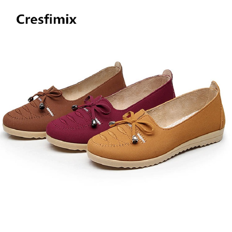 Cresfimix women casual stylish flat shoes lady cute spring & summer comfortable slip on shoes zapatos de mujer female shoes cresfimix women casual breathable soft shoes female cute spring