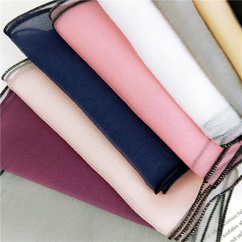 El nuevo organza de color sólido pequeño párrafo corto pañuelo - Accesorios para la ropa - foto 3