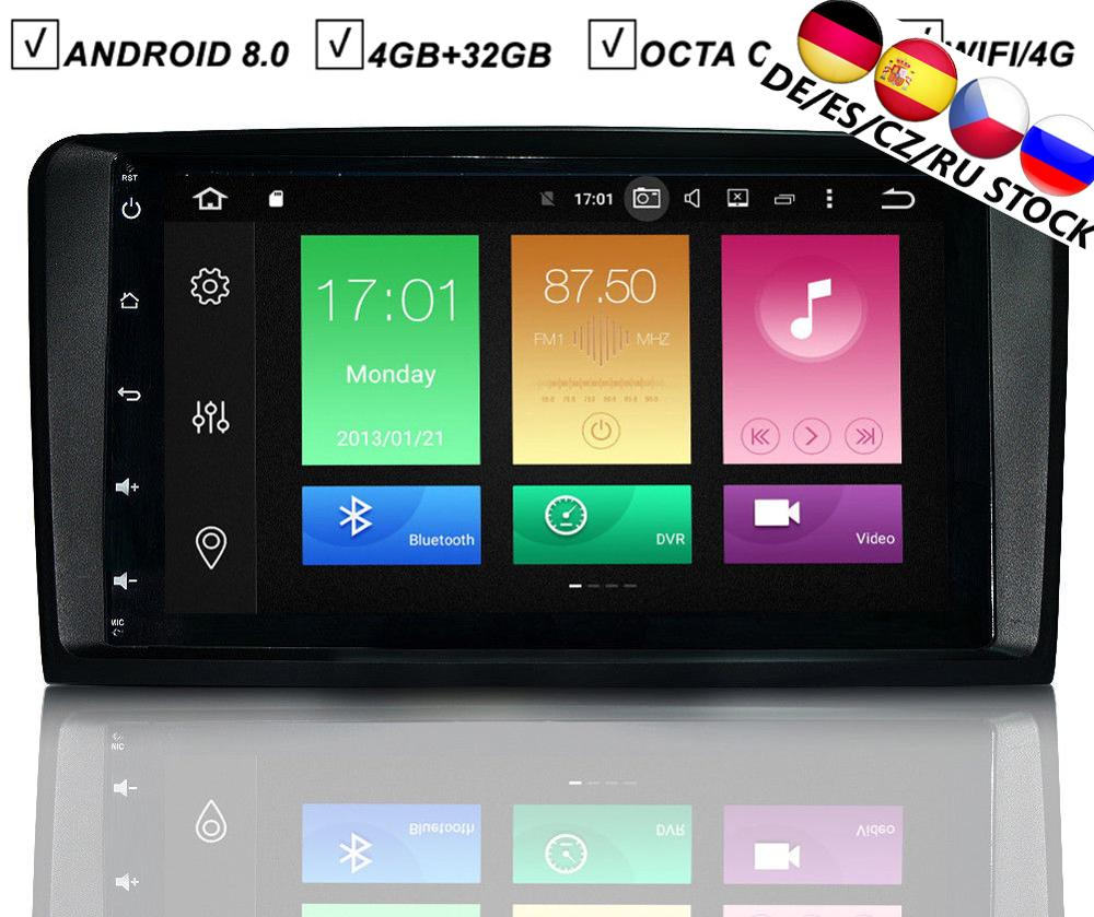 Lecteur DVD GPS de voiture 9 IPS Android 9.0 pour Mercedes Benz X164 W164 GL ML-classe Octa 8 Core 4G RAM 32G ROM Radio Bluetooth WIFI/4G